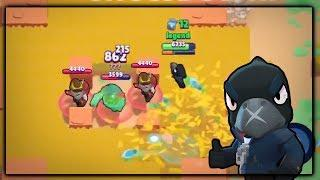 CROW VS TEAMERS! (500????) StopTheSpin Submission 5 :: Brawl Stars Gameplay