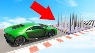 DODGE The Deadly SPIKE TRAP To WIN! (GTA 5 Funny Moments)