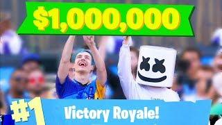 Ninja Wins $1,000,000 and the Golden Pickaxe!!! Fortnite Tournament & Funny Moments #60