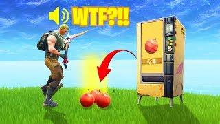 HOW TO TRADE *NEW* APPLES AT VENDING MACHINE - Fortnite Funny & WTF Moments #49