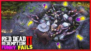 Funny Fails & Best RDR2 Moments #45 (Red Dead Redemption 2) - LoL Videos
