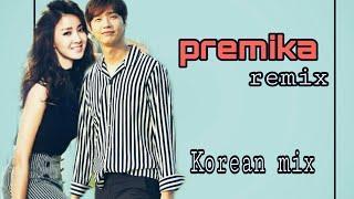 Premika remix || dilwale movie || korean mix hindi || funny and cute love story ||