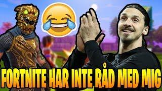 ZLATAN ROASTAR FORTNITE.. (Svenska Fortnite Highlights & Funny Moments) #13