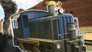 Train Racing in Garry's Mod With Tornadoes?! (Garry's Mod Funny Moments & Gmod Gameplay)