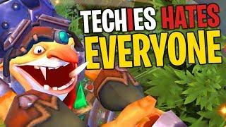 Techies Hates EVERYONE! - DotA 2 Funny Moments