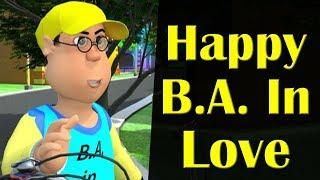 Happy B.A. In Love || Happy Sheru || Funny Cartoon Animation || MH One