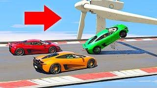 MOST INTENSE SUPERCAR OBSTACLE COURSE! - GTA 5 Funny Moments