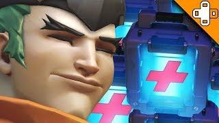 GREEN GENJI NEEDS HEALING BADLY! Overwatch Funny & Epic Moments 593