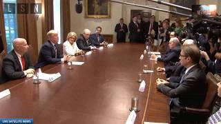 "President Trump Jokes ""Did Intelligence Agencies Turn Lights Off at White House?"" July 17, 2018"