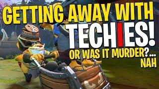 Getting Away With Techies - DotA 2 Funny Moments