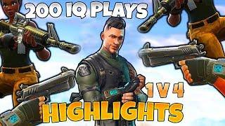 1v4 CLUTCH | 200IQ PLAYS Fortnite Moments - Grappler Gun Highlights & Funny Moments