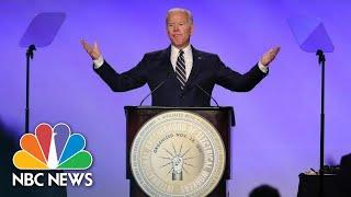 Joe Biden Jokes About Personal Space After Giving Hug: 'I Had Permission' | NBC News