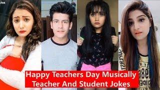 Happy Teachers Day Musically   Teacher and Student Jokes   Manjul, Awez, Aashika, Heer, Disha Madan