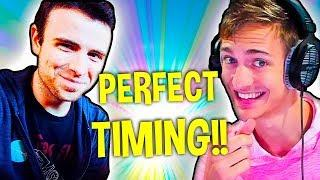 FORTNITE NINJA AND DRLUPO NO SCOPE PERFECT TIMING! Funny Daily Moments