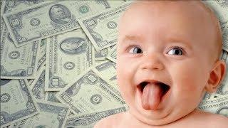 Funny Babies Love Money So Much  -  Babies  react when they see money -  Youtube