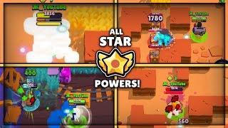 WHAT HAPPENS WHEN EACH BRAWLER IS MAXED! ALL STAR POWERS EXPLAINED + GAMEPLAY! :: Brawl Stars
