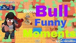 GAMING RIOT YT || BRAWL STARS BULL'S FUNNY MATCH MOMENTS