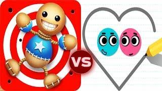 Kick The Buddy vs Love Balls Funny Buddy Solving Puzzle Gameplay (iOS)
