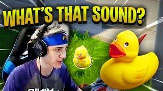 NINJA HEARS *WEIRD* DUCK SOUND IN FORTNITE! - Fortnite Best & Funny Moments (Fortnite Battle Royale)
