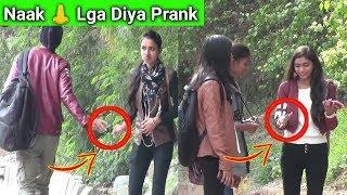 Nosy Laga Diya Prank On Cute Girls   Epic Reaction   Crispy Prank TV