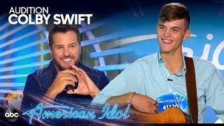 Colby Swift Cracks Luke Bryan Jokes During Bittersweet Audition - American Idol 2019 on ABC