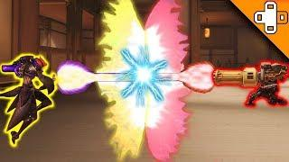 BULLET LASER VS HEALING LASER! Who Wins?! Overwatch Funny & Epic Moments 720