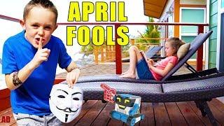 Sneaky Jokes on April Fools Day With a Robot! (And Spying!)