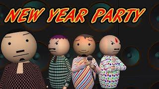 MAKE JOKE OF NEW YEAR PARTY