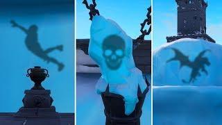 HIDDEN FIGURES FROZEN IN ICE? What's Inside? Fortnite Funny Moments