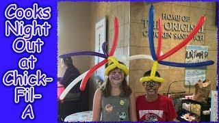 Balloon Tying - Making Hats - Jokes - A great time at Cooks Night Out!